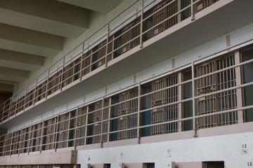 Prison Corridor inside the Alcatraz Penitentiary
