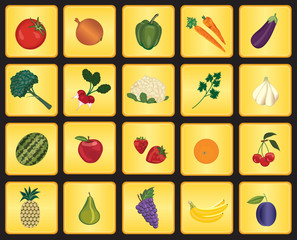 Fruits and vegetables signs