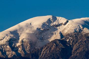 Mountain Sunset in Winter