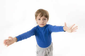 Little boy wants to be embraced