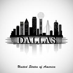 Dallas silhouette. Cities Skyline