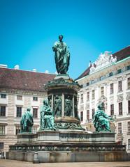 Monument to Emperor Franz I in Swiss Court. Vienna, Austria