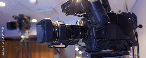 canvas print picture camera, TV broadcast