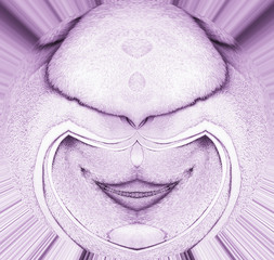 abstract form - looks like a face of an alien