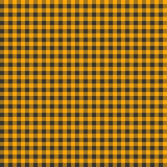 Seamless yellow and grey checkered tablecloth pattern
