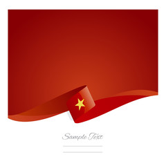 New abstract Vietnamese flag ribbon
