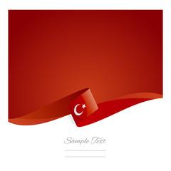 New abstract Turkish flag ribbon
