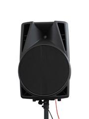 Large powerful Audio Speakers Isolated on White Background