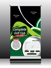 golf game roll up template design