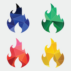 fire icon Abstract Triangle.