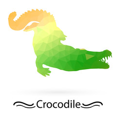 Crocodile triangles of different colors. Raster
