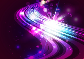 Abstract Lines with Light Colorful Background