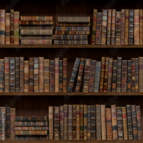 Foto op Plexiglas Kunstmatig Books seamless texture. tiled with other textures in my gallery