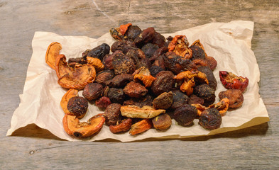 a handful of dried fruit