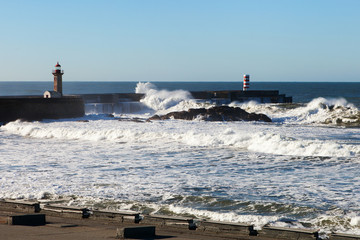 Atlantic waves at Portugal coast.