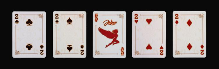 Spielkarten - Poker - Zwei Vierlinge im Spiel
