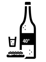 Vodka and caviar icon