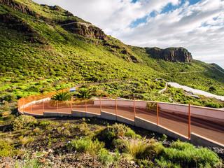 Road and rocks of Los Gigantes. Tenerife