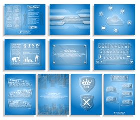 COLLECTION OF TEN INFOGRAPHIC, TIMELINE,PLATE STYLE GLASS