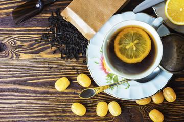 Mug of hot sweet tea