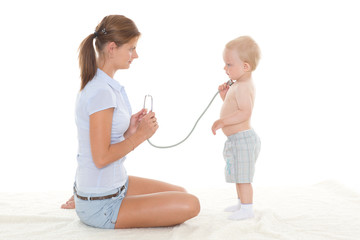 Doctor and small patient