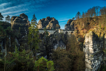 Felsenbrug Basteibrücke in der Sächsischen Schweiz