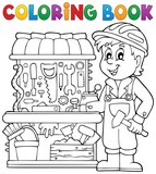 Coloring book child playing theme 2 - 79031722