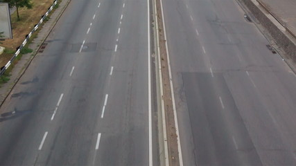 Cars on the highway timelapse, closeup view