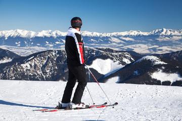 Skier on hill Chopok, Slovakia