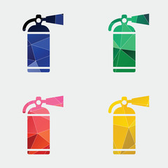 fire extinguisher icon Abstract Triangle
