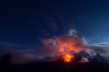 instant eruption stellaire