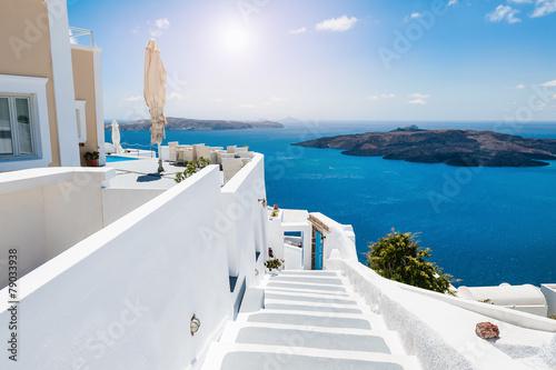 White architecture on Santorini island, Greece - 79033938