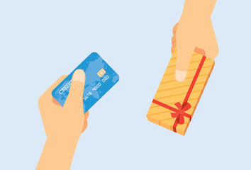 Use credit card exchange to gift box