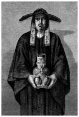 Andean Trad. Man - Homme des Andes - 19th century