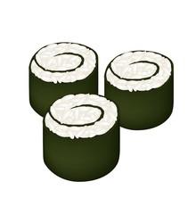 Rice Maki Sushi Roll or Rice Nori Roll