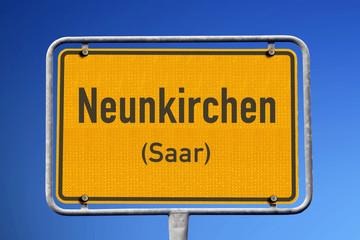 Ortsschild Neunkirchen (Saar)