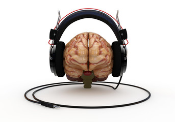 Brain with Headphones