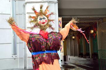 Фигура Масленицы в Столешникове переулке, Москва