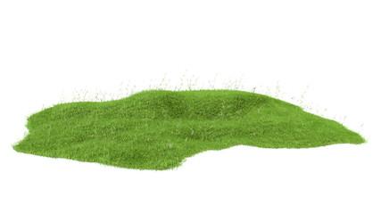 3d rendered illustration of piece of land