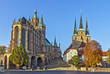 Leinwanddruck Bild - Erfurt Cathedral and Severikirche,Germany