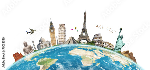 Illustration of famous monument of the world - 79038559