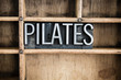 Pilates Concept Metal Letterpress Word in Drawer - 79039150