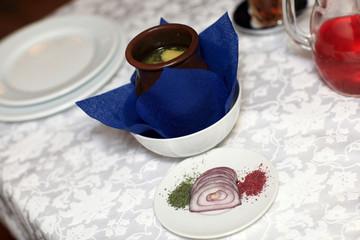 Azerbaijani shaki piti soup