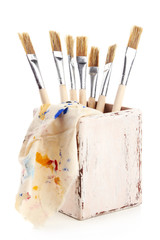 Paint brushes, isolated on white