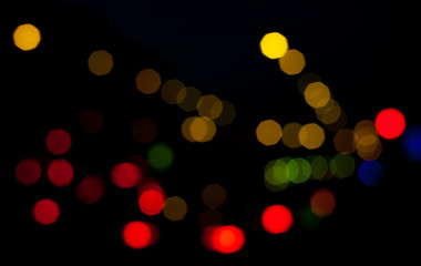 Colorful blurry abstract background with defocused lights