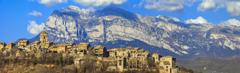 Ainsa - beautiful mountain village in Aragon, Spain (border with