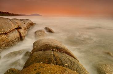 sea sunset long exposure