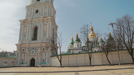 Handheld shot of Saint Sophia Cathedral