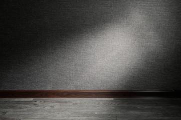 Ray of light on floor