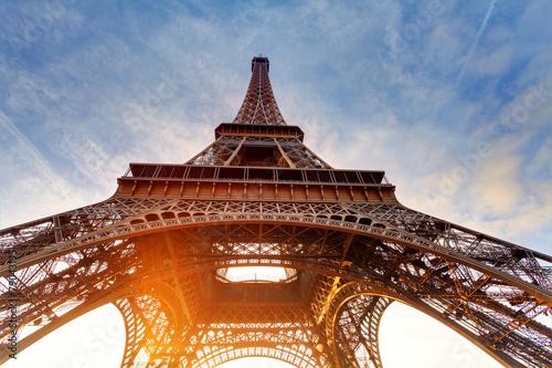 Sunrise in Paris, with Eiffel Tower